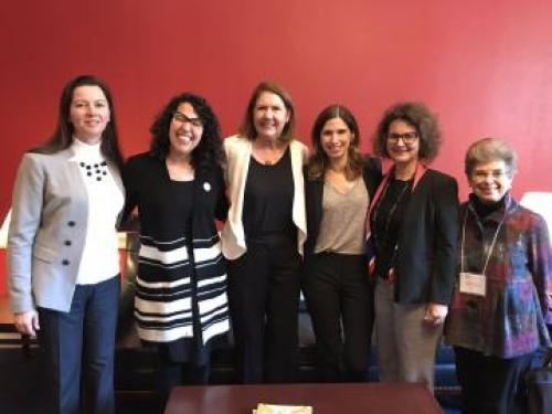 Amy Kimme Hea, Associate Dean for Academic Affairs and Student Success in the College of Social and Behavioral Sciences, Carine Bourget, professor of French, and Anita Huizar-Hernandez, assistant professor of Spanish, joined Julia Smith, UA Assistant Vice President for Federal Relations, in visiting Arizona's congressional offices.