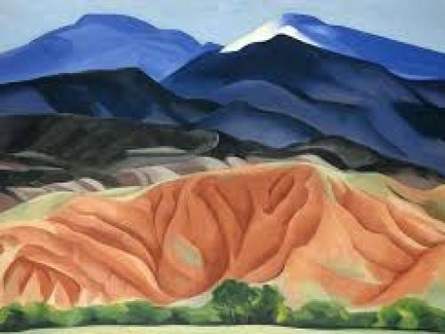 Georgia O'Keeffe. Black Mesa Landscape, New Mexico / Out Back of Marie's II, 1930. Oil on canvas, 24 1/4 x 36 1/4 inches. Georgia O'Keeffe Museum. Gift of The Burnett Foundation. © Georgia O'Keeffe Museum. [1997.6.15]
